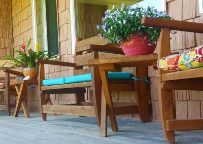 Saguaro Day Spa Back porch
