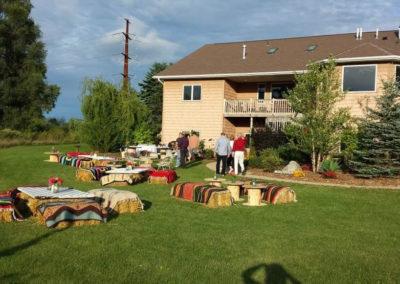 backyard event gathering